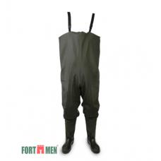 Полукомбинезон рыбацкий FortMen c ПВХ сапогами 11(С)1500