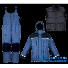 Костюм зимний Чайка ЭВЕРЕСТ (до -35С), синий+черный