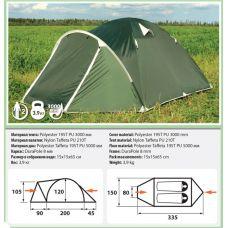 Двухместная палатка Comfortika Pamir 2