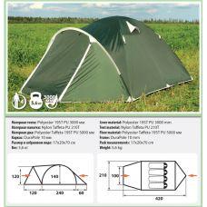 Палатка Comfortika Pamir 4 (четырехместная)