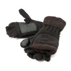 Рукавицы-перчатки Tagrider TR 1064 с обрезанными пальцами вязанные с флисом тёмные (светлые)