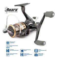 Катушка с байтраннером Akara Max Power 40A, 9+1 шп.
