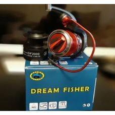 Катушка (Dream Fisher) DF2000A 3+1BB (передний фрикцион, металл+пласт. шпуля)