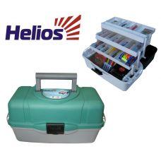 Ящик рыболова HELIOS трехполочный зеленый