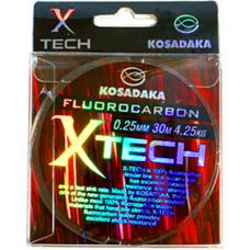 Леска Kosadaka флюорокарбон Х-ТЕСН 0,12 - 0,14  (30 м)
