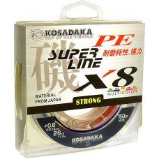 Леска плетеная Kosadaka SUPER PE X8 0,12 - 0.5 мм/150 м, зел