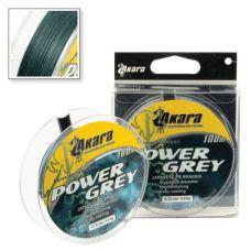 Шнур Akara Power Grey 0.10 - 0.25/100 м