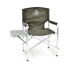 Кресло складное Кедр AKS-06 алюминий со столиком