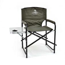 Кресло складное Кедр SK-07 сталь со столиком с подстаканником