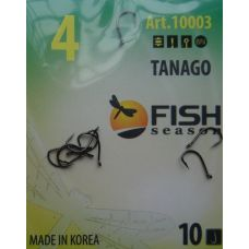 Крючки Fish Season TANAGO-RING №4 с ушком, 10 шт.