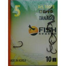 Крючки Fish Season TANAGO-RING №5 с ушком, 10 шт.