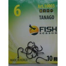 Крючки Fish Season TANAGO-RING №6 с ушком, 10 шт.
