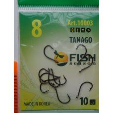 Крючки Fish Season TANAGO-RING №8 с ушком, 10 шт.
