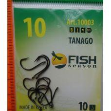 Крючки Fish Season TANAGO-RING №10 с ушком, 10 шт.