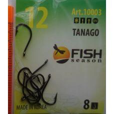 Крючки Fish Season TANAGO-RING №12 с ушком, 10 шт.