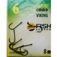 Крючки Fish Season VIKING №6 с ушком, 9 шт.