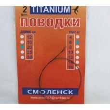 Поводок титановый Titanium Смоленск 6 кг, 20 см (2 шт в уп.)