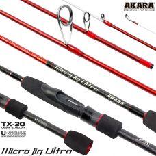 Спиннинг штекерный угольный Akara Micro Jig Ultra 662UL-S 2,1 м (0,5-6)