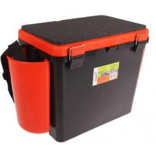 Ящик зимний FishBox односекционный 19 л оранжевый
