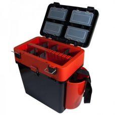 Ящик зимний FishBox двухсекционный 19 л оранжевый